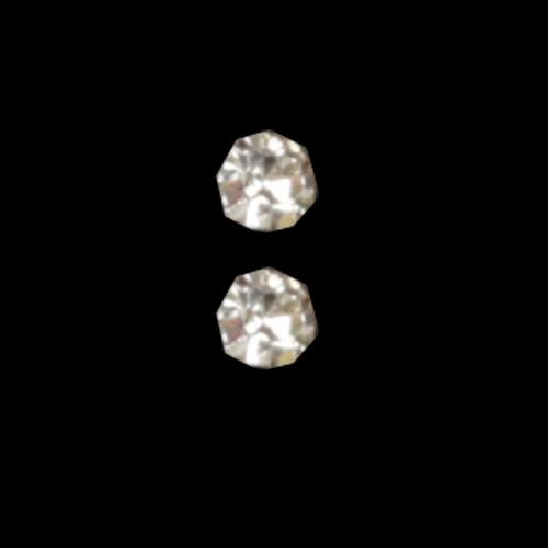 Novelty Button 1/4'' Doll Diamond Silver/Rhinestone