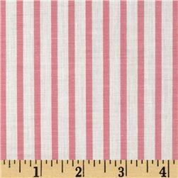 Cotton Lawn Yarn Dyed Stripe Pink