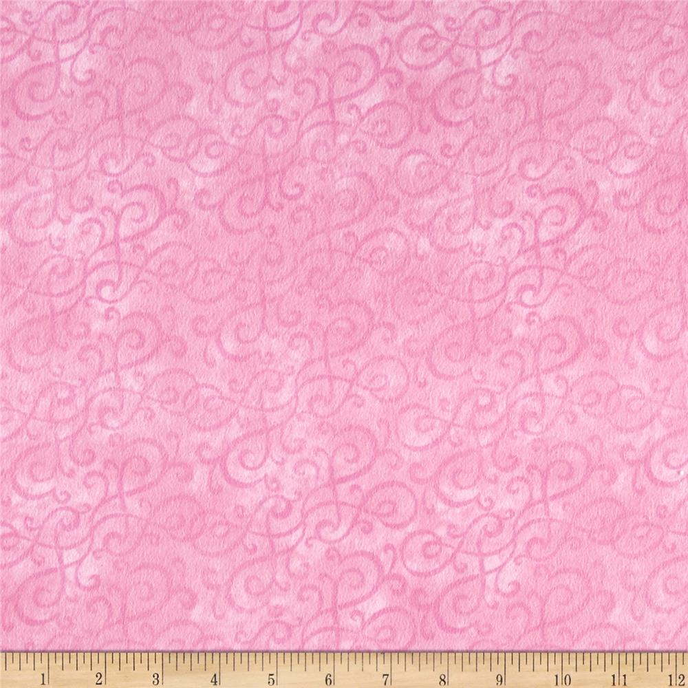 Flannel Scroll Pink