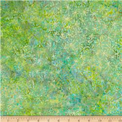 Bali Batiks Handpaints Abstract Floral New Grass