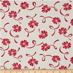 Moda Hello Darling Ribbon Cream - Red