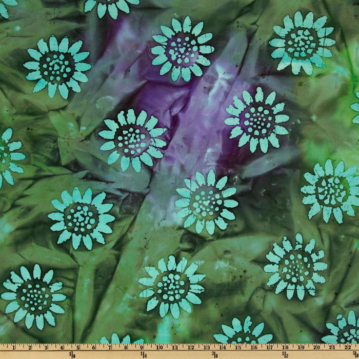 Indian Batik Tuscan Garden Purple