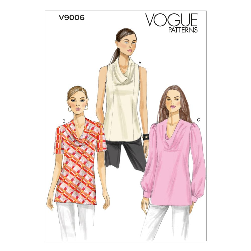 Vogue Misses' Top Pattern V9006 Size B50