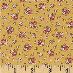 Aunt Grace Miniatures Scattered Small Flowers Yellow