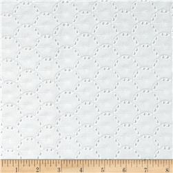 Annie Eyelet Circles White Fabric