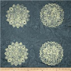 Bali Batiks Handpaints Medallion Tile Smoke