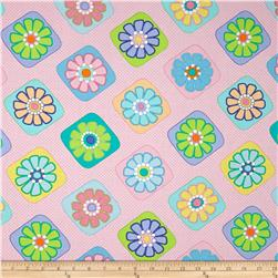 Moda Grow Flower Tiles Popping Pink