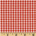 "Richcheck 60"" Gingham Check 1/8"" Orange"