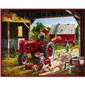 Fleece Farmall Panel Red