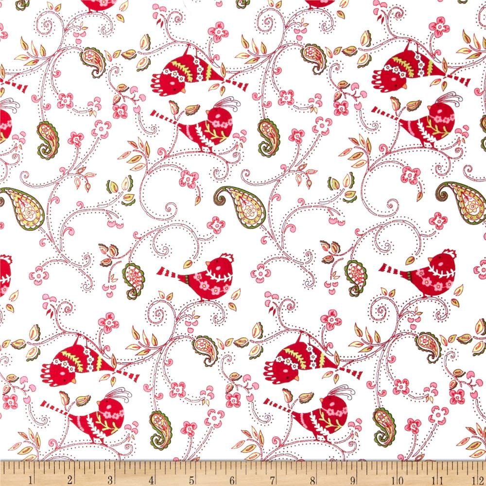 Love & Joy Dotty Birds White