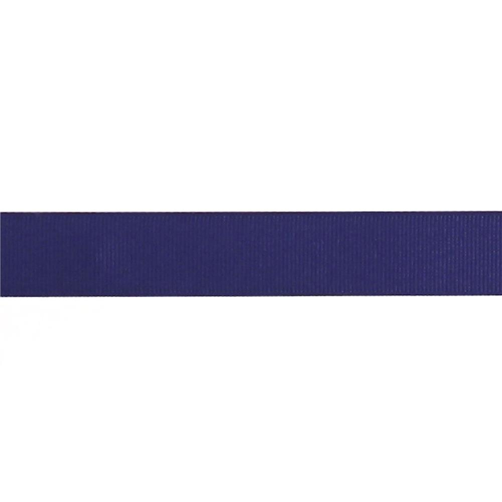 "May Arts 3/4"" Grosgrain Ribbon Spool Navy"