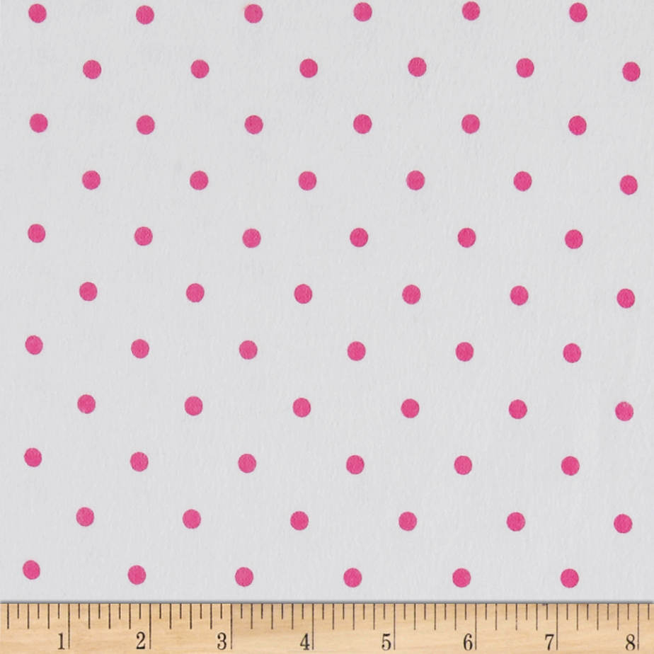 Comfy Flannel Dot Pink Fabric by A. E. Nathan in USA