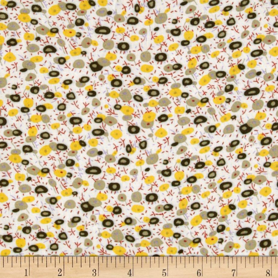 Desinger Rayon Shirting Floral Yellow/Olive