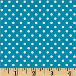Moda Dottie Small Dots Bright Turquoise Fabric