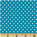 Moda Small Dots Bright Turquoise