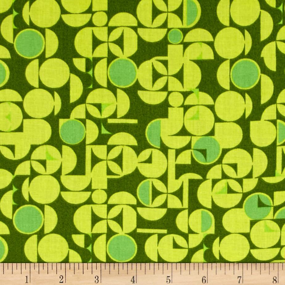 Retro Dots Circles Green