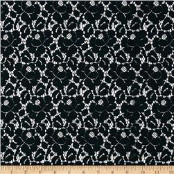 Southern Cotton Lace Petals Black