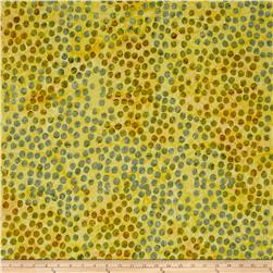 Timeless Treasures Tonga Batik Peacock Large Dots Moss