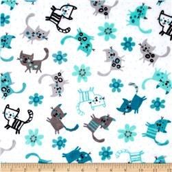 Shannon Minky Cuddle Prints Purrr Teal