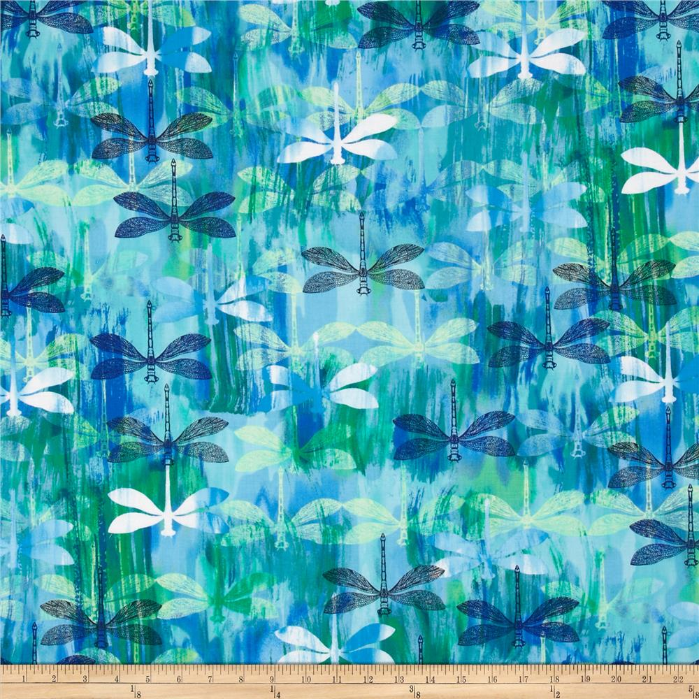Kanvas Blue Paradise/Sundrenched Patio Dragonfly Blue