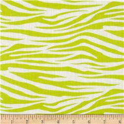 Metro Living Zebra Lime Fabric