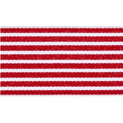"1 1/2"" Grosgrain Stripes Red/White"