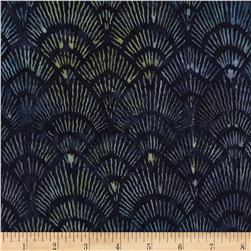 Timeless Treasures Tonga Batiks Bluegrass Fans Galaxy