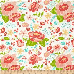 Moda LuLu Lane Flower Garden White