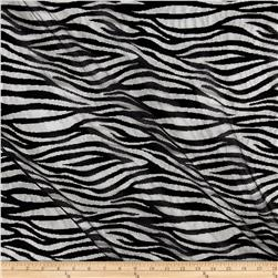Mesh Vertical Zebra Stripe Black