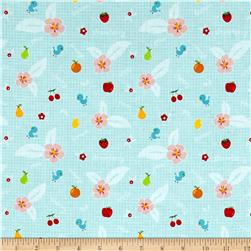 Riley Blake Sweet Orchard Fruit Aqua