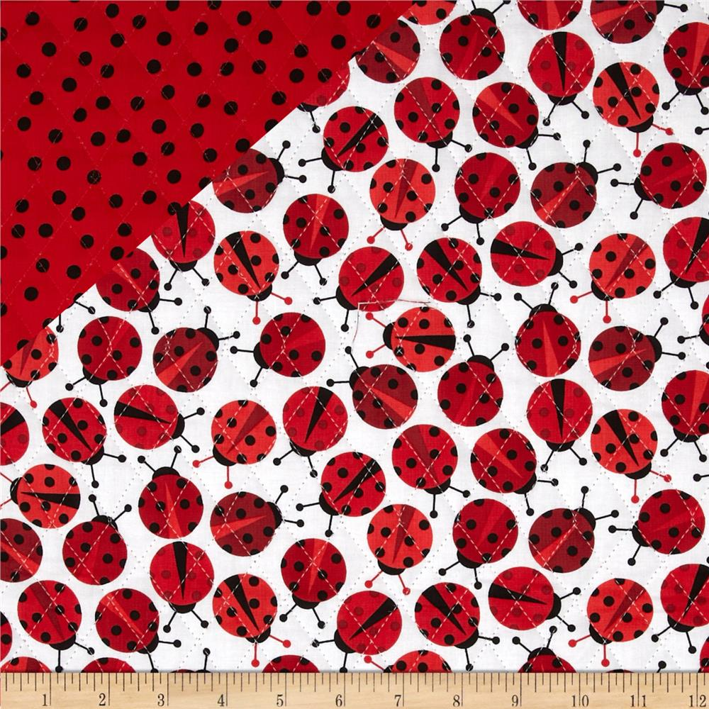 Urban Zoologie Double Faced Quilted Ladybugs/Dots Multi