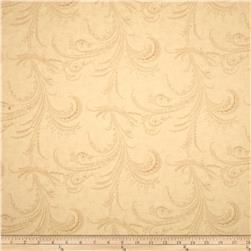 Moda Under the Mistletoe Etched Scrolls Linen