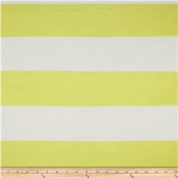 Designer Yarn Dyed Jersey Knit Stripes Neon Yellow/White