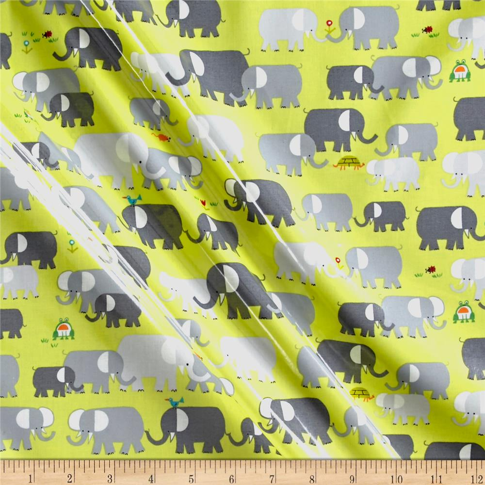 Cloud 9 Orangic Laminate Elephants Green