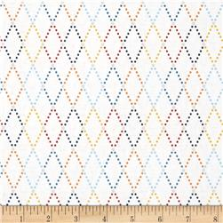 Riley Blake Lucky Star Argyle Cream