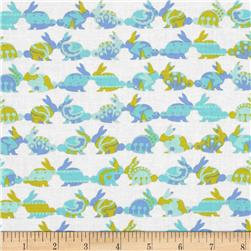 Michael Miller Cynthia Rowley Oh Baby Rabbit Repeat Aqua