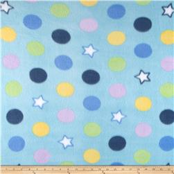Fleece Print Gumballs Blue