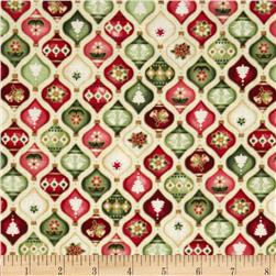 The Giving Quilt Ornaments Metallic Multi/Cream