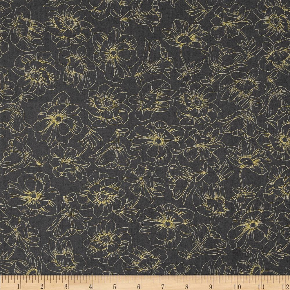 Nuance Floral Toile Dark Grey