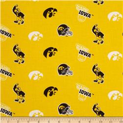 Collegiate Cotton Broadcloth University of Iowa