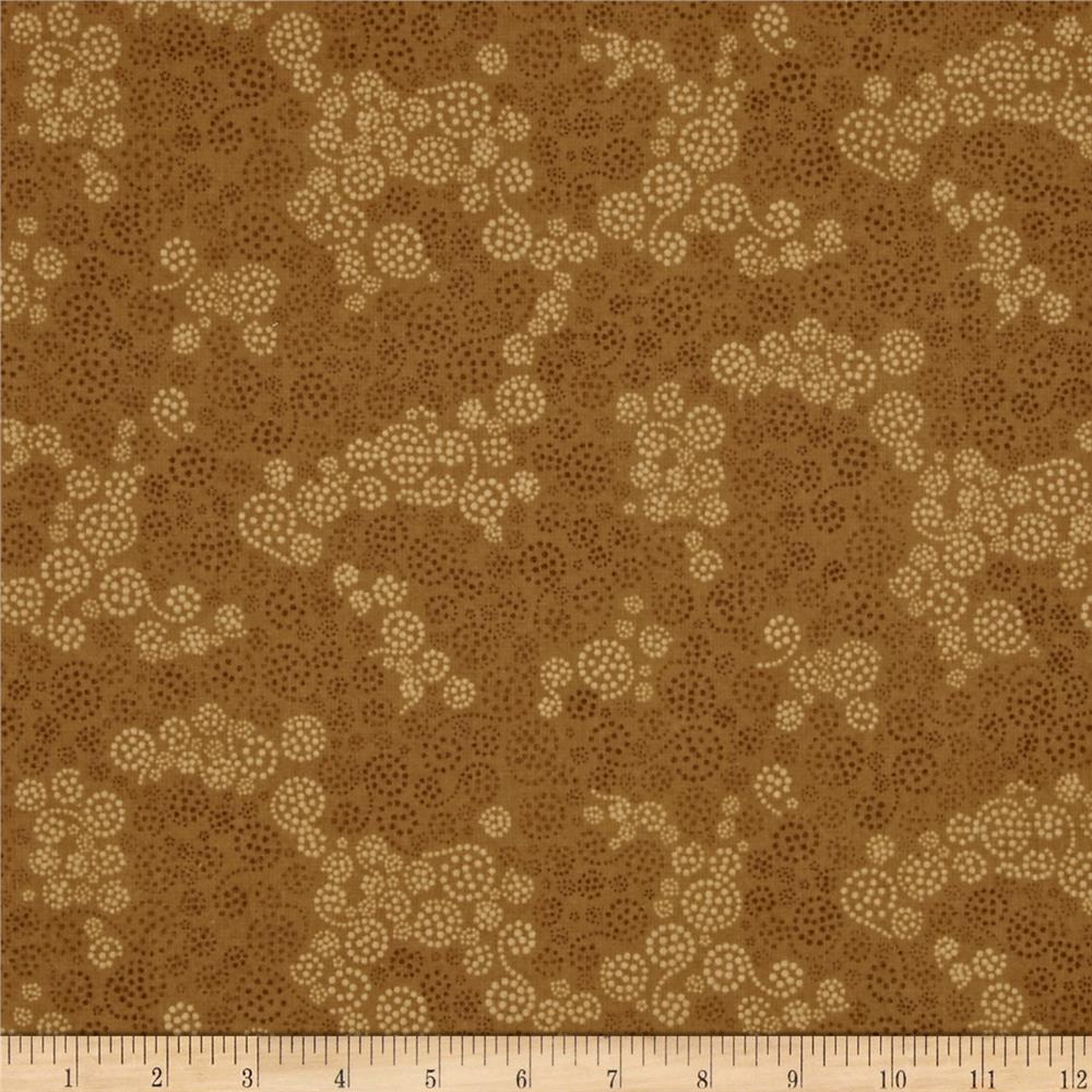 Essentials Flannel Sparkles Dark Tan Fabric By The Yard