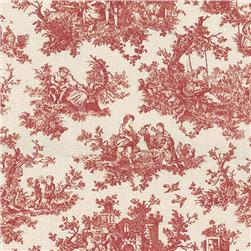 Waverly Sweet Pastimes Toile Crimson