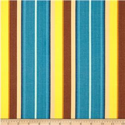 Kaufman Serape Stripes Shirting Blue Fabric
