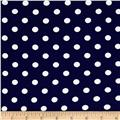 Liverpool Double Knit Dots Navy/Ivory