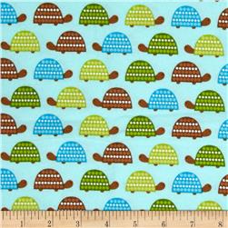 Robert Kaufman Wild Bunch Flannel Turtles Park