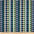 Woodlands Spirits Blanket Stripe Blue