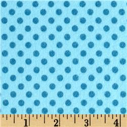 Riley Blake Hooty Hoot Returns Flannel Dots Blue