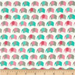 Kaufman Urban Zoologie Mini Flannel Elephants Sweet