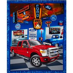 Ford F150 Truck Panel Red/Blue/Grey/Orange Fabric