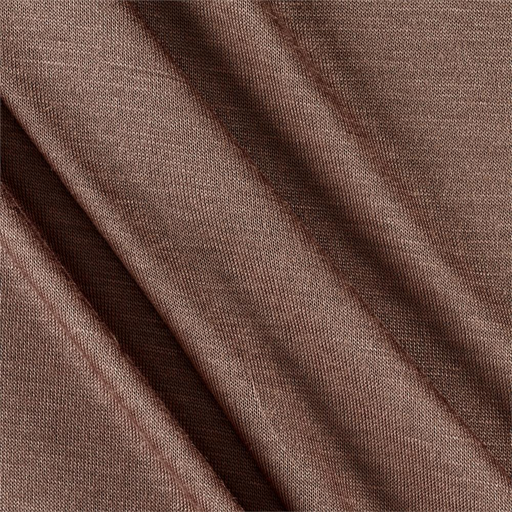 Silky Rayon Jersey Knit Solid Cedar Fabric By The Yard